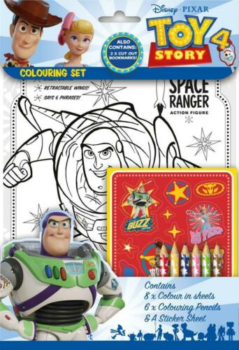 Toy Story 4 Colouring Book Pencils Stickers Travel Activity Party Bag Filler