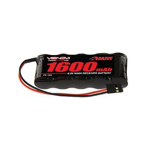 Venom-6V-1600mAh-5-Cell-Flat-Receiver-Pack-RC-NiMH-Battery-RC-Boat-Truck-Buggy