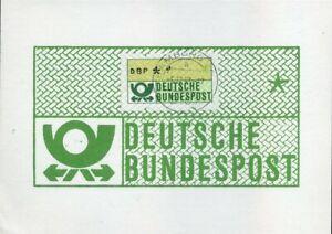 415168) Bund Atm Nº 1 Sans Werteindruck Sur Maxikarte Hambourg 1983-afficher Le Titre D'origine