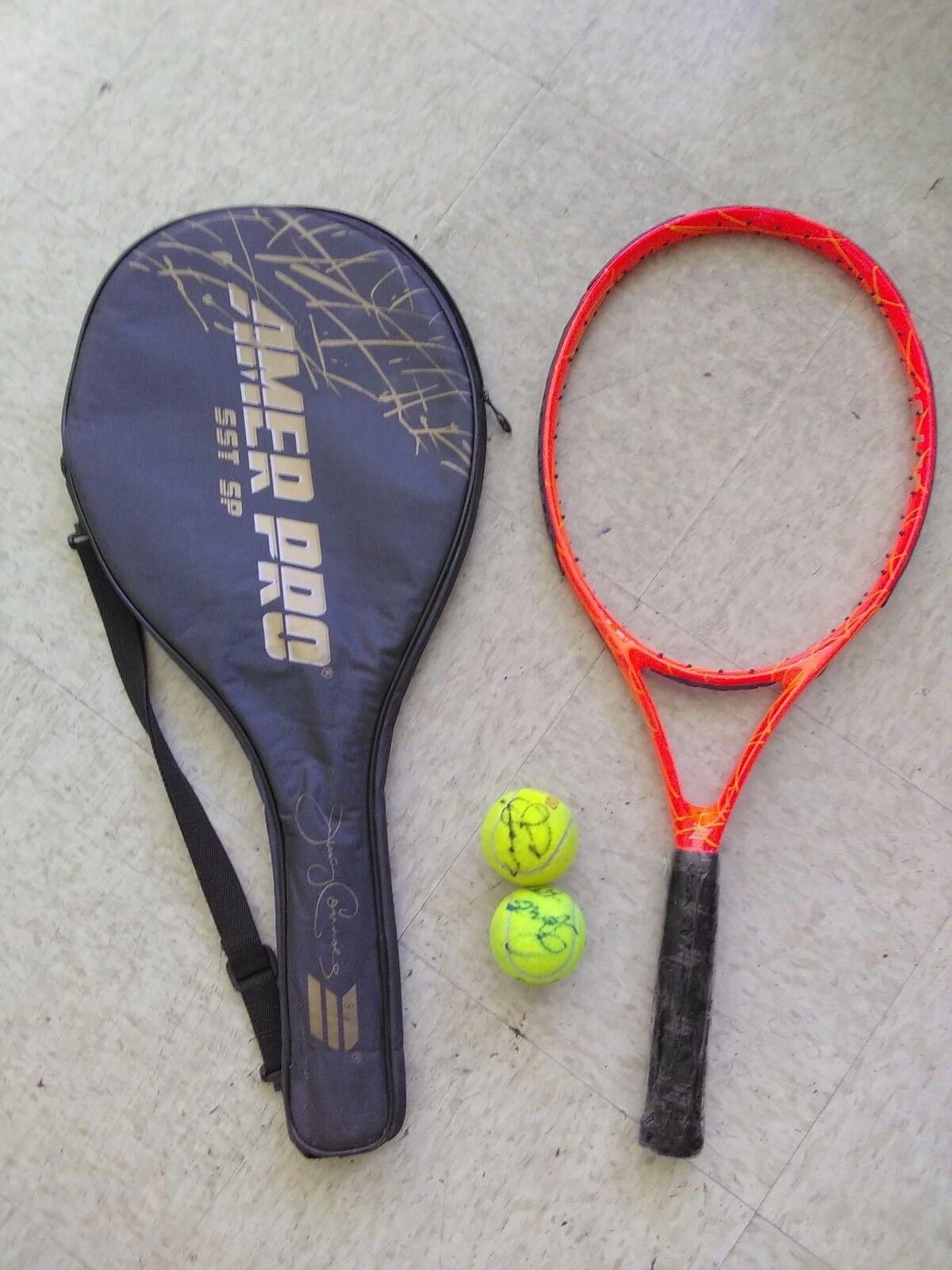 American Pro Jimmy  Connors USL3 tenis raqueta, 4 3 8 GS, nuevas condiciones con 2 Sign  elige tu favorito