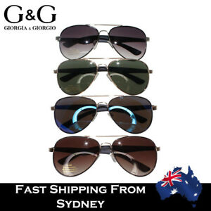 ba1bbab639c G G Men Aviator Sunglasses Flat Top Fashion Oval Metal Frame Rubber ...