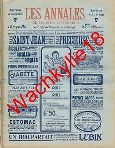 Les annales n°1205 du 29/07/1906 Loti Femme turque Camping de Losquès Alfred Bei - France - État : Etat correct: Livre présentant des marques d'usure apparentes. La couverture peut tre légrement endommagée, mais son intégrité est intacte. La reliure peut tre légrement endommagée, mais son intégrité est intacte. Existence possi - France