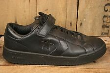 CONVERSE All Star Lace & Strap Black Leather Skate or Basketball Shoes Sz. 10