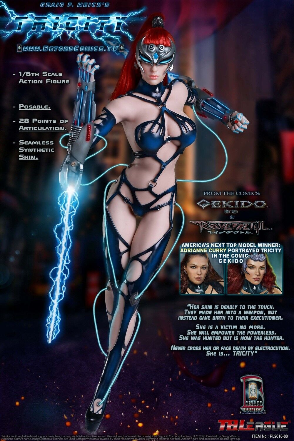 TBLeague PHICEN Seamless Female Body TRICITY-Goddess of Lightning 1/6 Figure