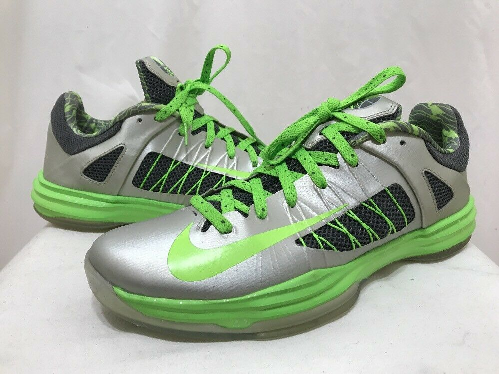 Nike hyperdunk niedrigen niedrigen niedrigen top - basketball - trainer - schuhe grau - grnen 11 euc. ff9584