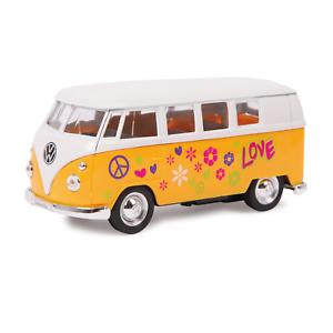 1-34-Welly-coche-modelo-039-Volkswagen-63-T1-Bus-de-metal-de-color-amarillo-8-anos