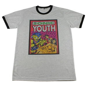 485266cec SONIC YOUTH Washing Machine Rock Band Concert >C126 Men Ringer T ...