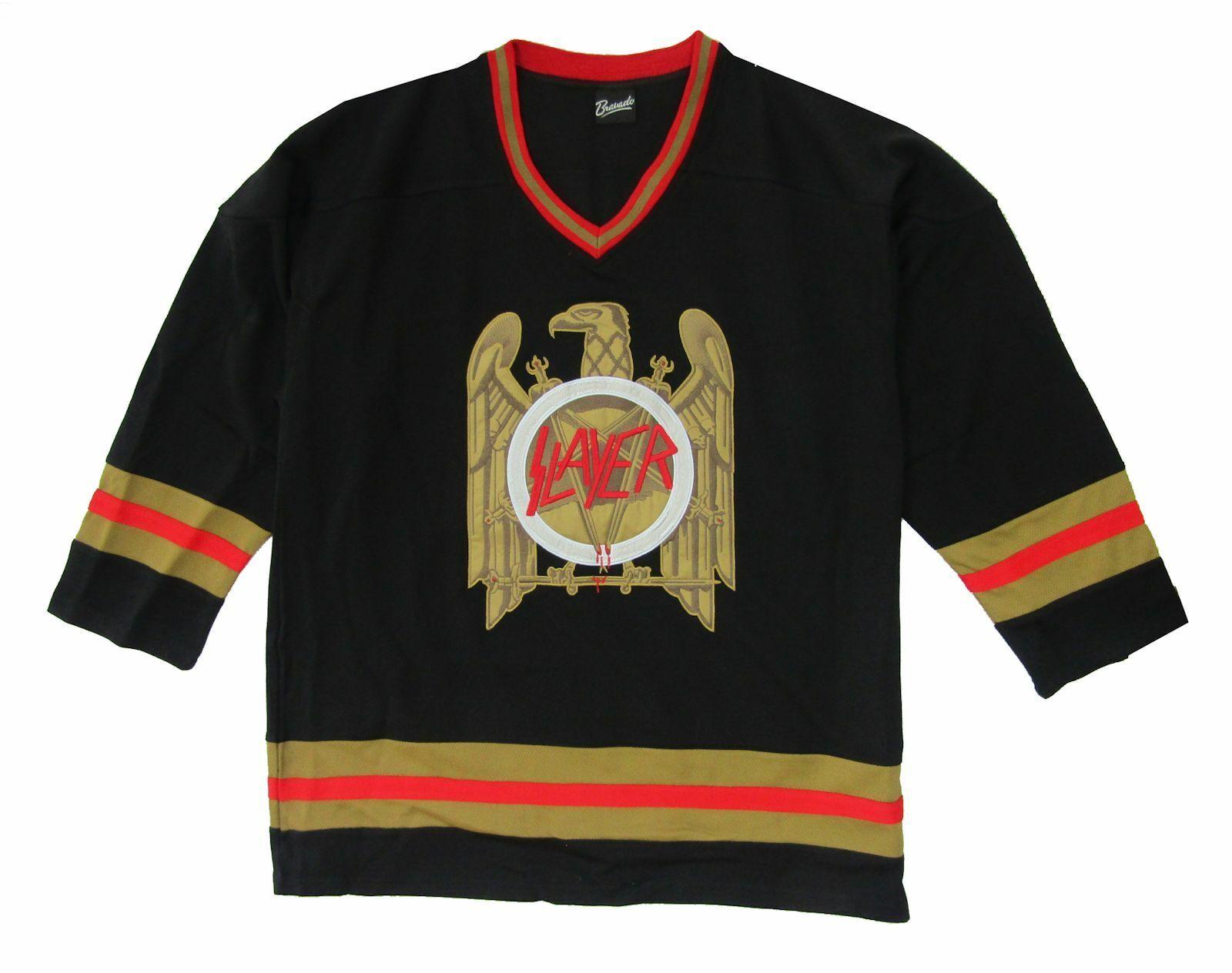 Slayer Bronze Eagle Black Hockey Jersey (XL)