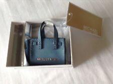Michael Kors Sky Blue Dillon Key Charm Blue KeyFob KeyRing Brand New With Tag