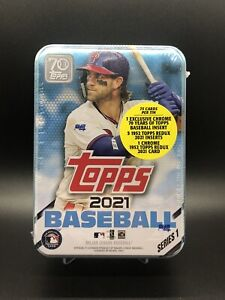 2021 Topps Series 1 Baseball Factory Sealed Collector's Tin Bryce Harper Version