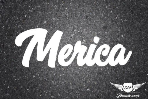 """MERICA 6/"""" STICKER DECAL JDM TUNER LOW FUNNY EURO KDM JDM BOOST DIRTY"""