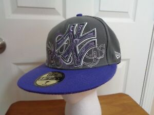 59d00ab59d8 New Era 59 Fifty Gray Purple New York Yankees Embroidered Baseball ...