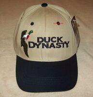 Duck Dynasty Commander Khaki Black Mallard Hat Cap A&e Velkro Closure