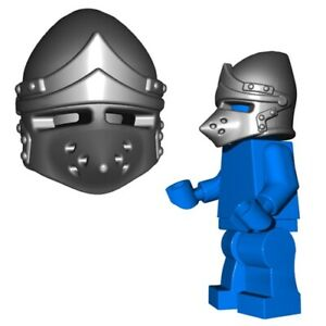 Lego-Medieval-Helmet-Castle-Knight-Soldier-crusader-helm-brickwarriors-minifig