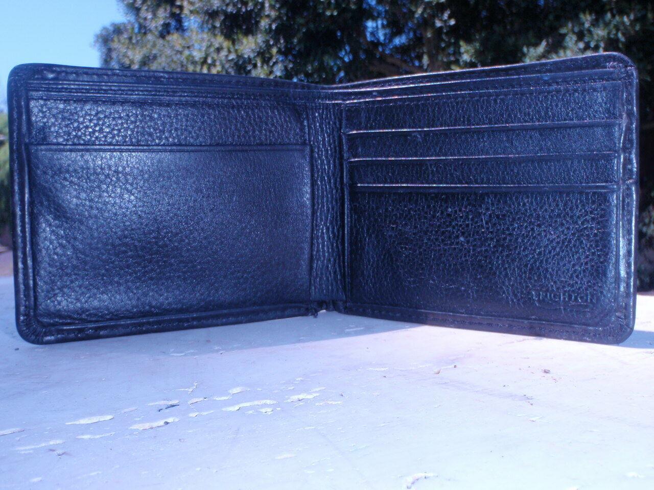 BRIGHTON Black Distressed Leather Bifold