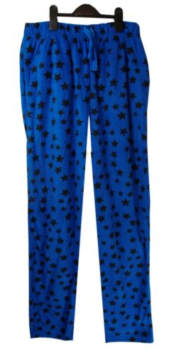 Men/'s Soft Fleece Drawstring Blue /& Black Star Print Pyjama Pants Small-XLarge