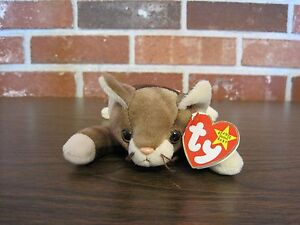 Details about 1997 TY ORIGINAL BEANIE BABY---POUNCE--CAT---DATE OF  BIRTH--AUGUST 28, 1997