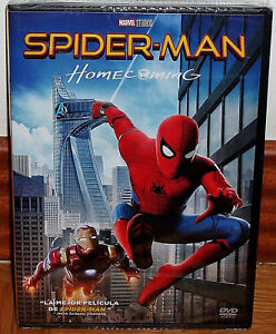Spider-Man-Homecoming-2017-Spiderman-DVD-New-Sealed-Action-Sleeveless-Open-R2
