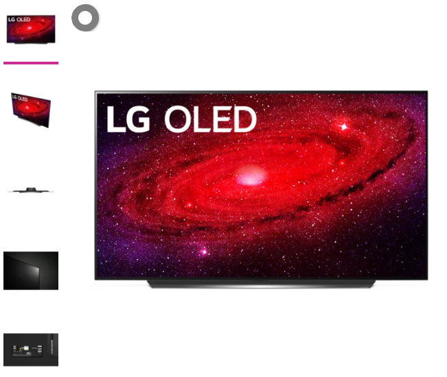 LG 77 Class 4K UHD 2160P OLED Smart TV with HDR OLED77CXPUA 2020 Model. Available Now for 1096.99