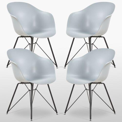 Valentina Sessel Esszimmerstuhl Grau Retro Lounge Eiffel Esszimmer Modern