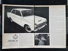 Vintage 1965 Ford Cortina GT  - 3 Page Article - Free Shipping
