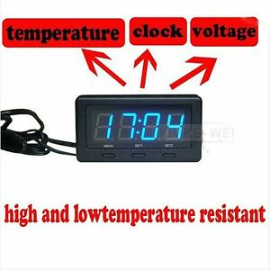 auto led thermometer voltmeter spannungsmesser uhr f r auto ebay. Black Bedroom Furniture Sets. Home Design Ideas