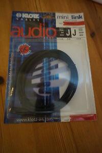 Musikinstrumente Fein Klotz Kabel Mini_ Link 2m3,5mm Klinke Buchse Stereo Neu Gitarren & Bässe