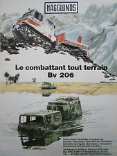 3/1987 PUB HAGGLUNDS & SONER SWEDEN BV 206 CHENILLE AMPHIBIE ORIGINAL FRENCH AD