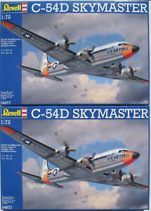 2x-REVELL-04877-Douglas-C-54D-SKYMASTER-1-72-Flugzeug-Modellbausatz-Kit