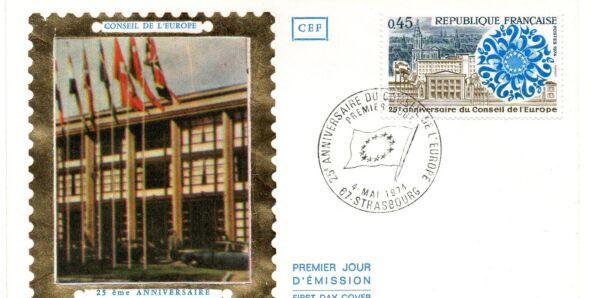 1 Enveloppe Premier Jour Fdc Cef 1974 Conseil Europe Collection