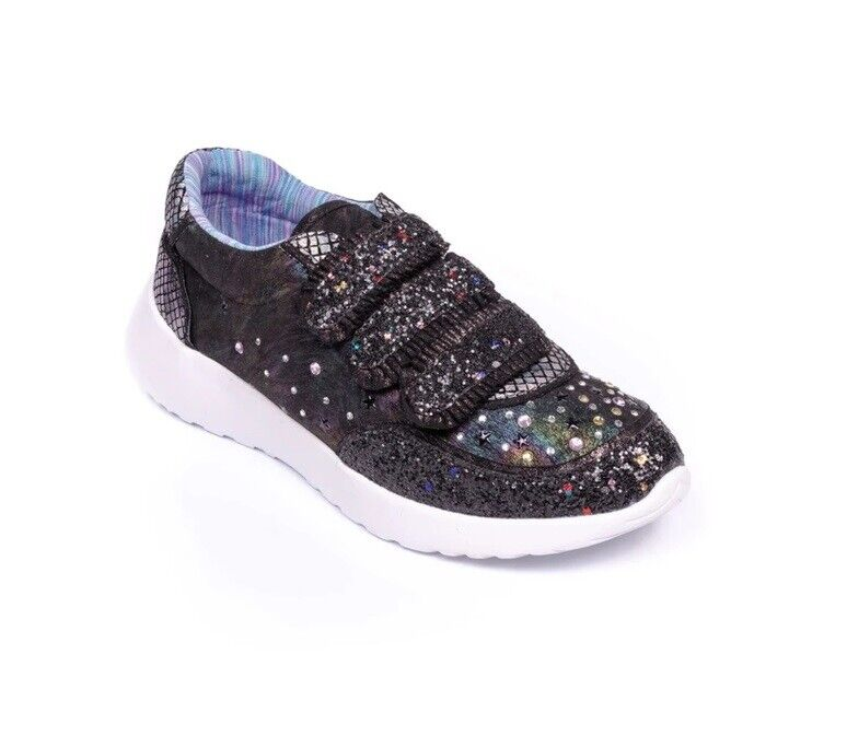 Irregular Choice Hydro (C) Noir Baskets Chaussures Tailles 35 + 36