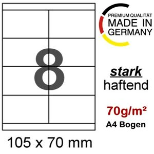 100 A4 Blatt Etiketten 105 x 70 Formatkompatibel Herma 4426 Avery Zweckform 3426