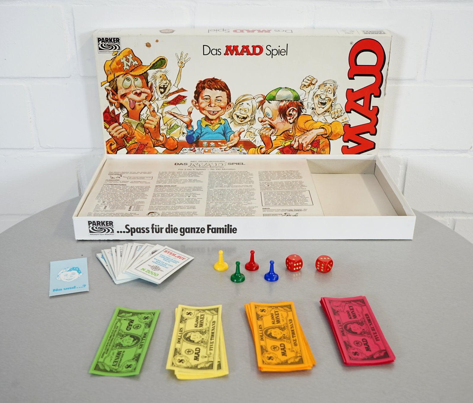 Das Mad Spiel - Das vernünftigste Spiel der Welt Parker ab 100 Monaten OVP
