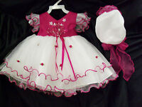 Girl Pageant Birthday Party Tulle Dress Hot Pink Z:6m;12m;18m;24m;3t;4t