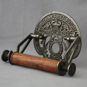 Antique Inspired Black Iron Toilet Roll Holder