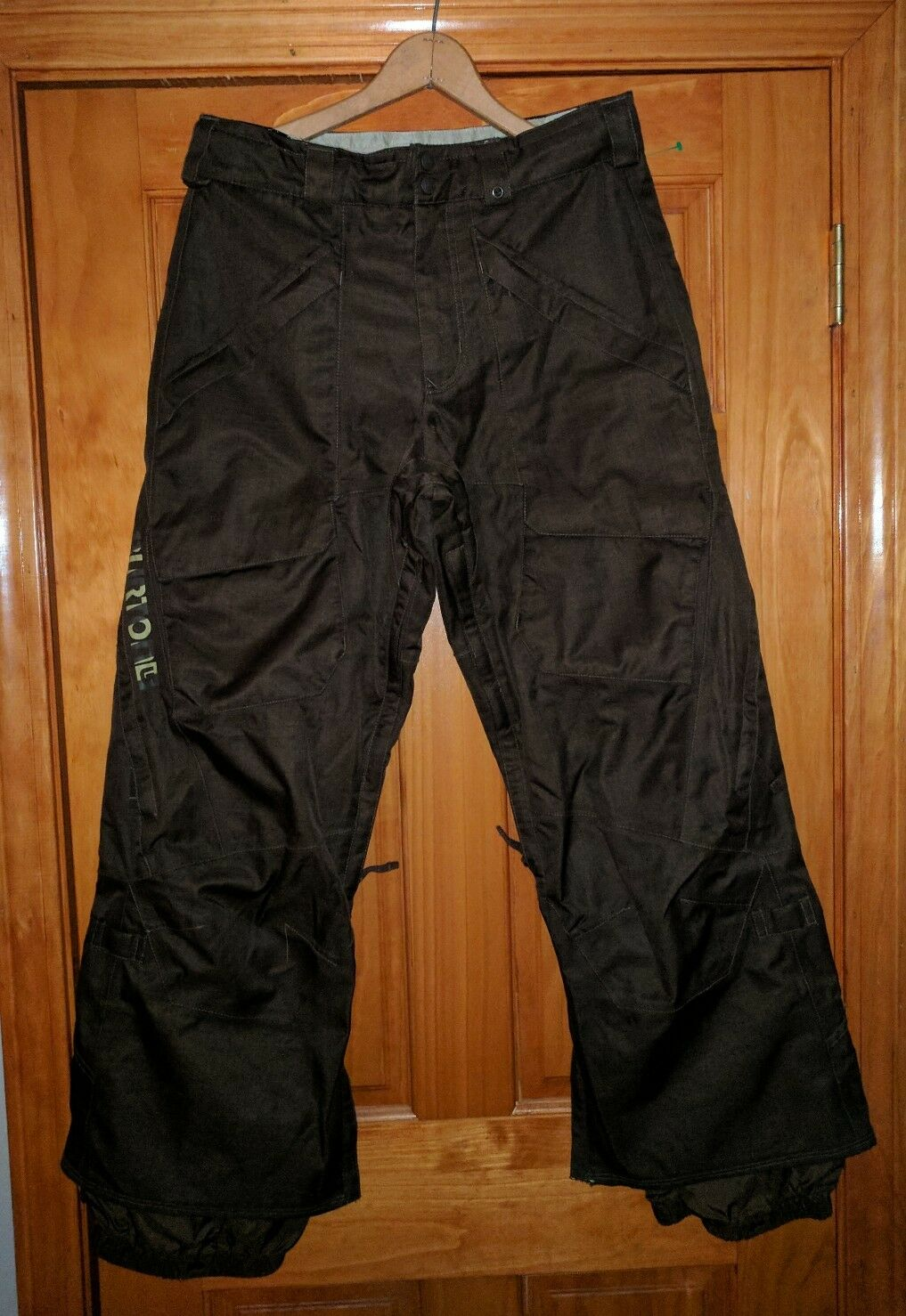 BURTON DRY RIDE BROWN MENS SKI SNOW SNOWBOARDING PANTS S SM  CARGO 34 WAIST