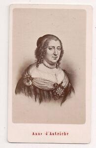 Vintage-CDV-Anne-of-Austria-Queen-of-France-E-Neurdein-Photo