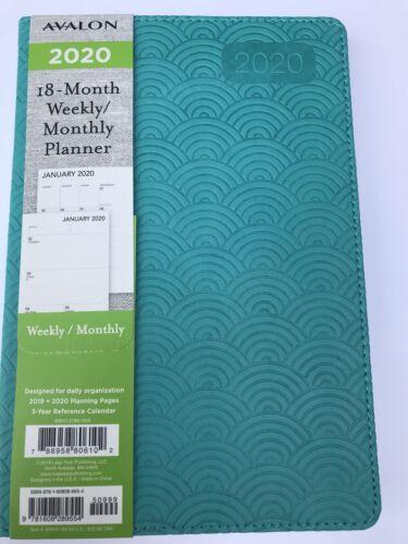 2020 Avalon 18-month Weekly//Monthly Planner Calendar Agenda Apptmt Book TEAL 5x8