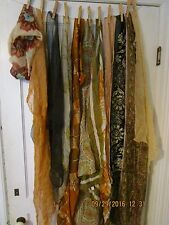 large lot of vintage women's scarves shawls neck wear earth tones Fall colors
