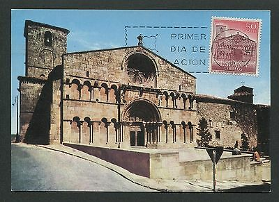 Domingo Church Kirche Carte Maximum Card Mc Cm D3946 Analytisch Spain Mk 1966 Soria St Architektur