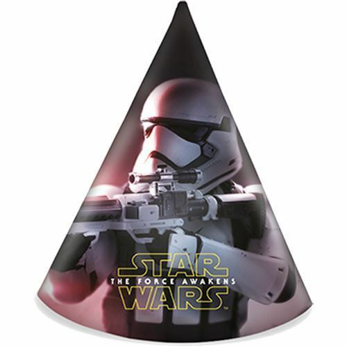 Star Wars Episode VII The Force Awakens Kids Birthday Party Paper Cone Hats-6 pk