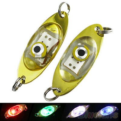 Details about  /LED Deep Underwater Eye Shape Fishing Lure Light Flashing Low Lamp Power X3E7