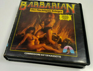 Barbarian-by-Palace-1987-Commodore-64-C64-Original-Spiel-Cassette-Boxed-OVP