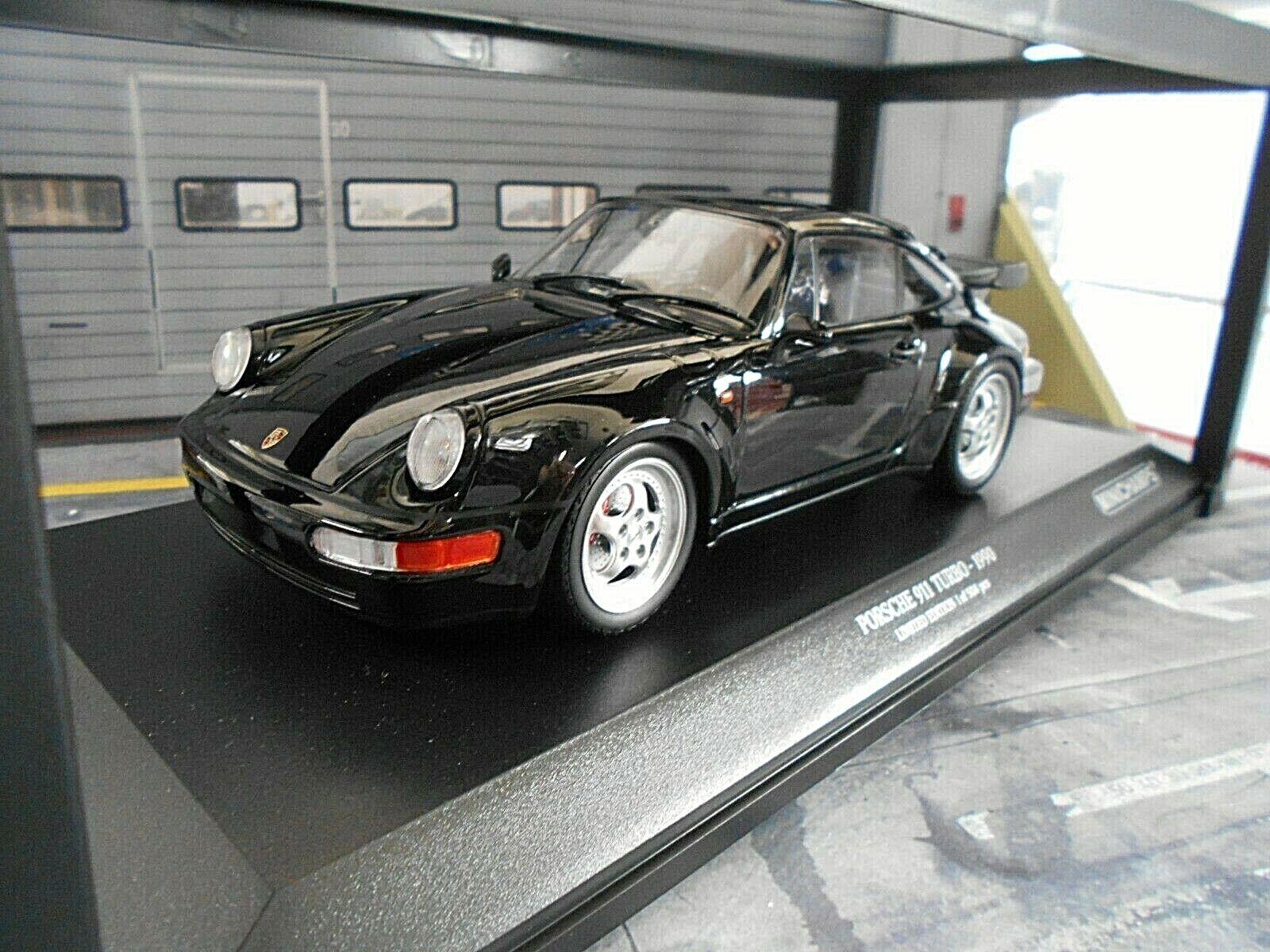 Porsche 911 964 Turbo Coupe 1990 nero nero Minichamps DIECAST 1 18