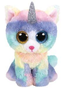 e6b083a19bf TTY Beanie Baby Soft Toy Multicoloured Ty36250 Heather The Unicorn Cat 15cm
