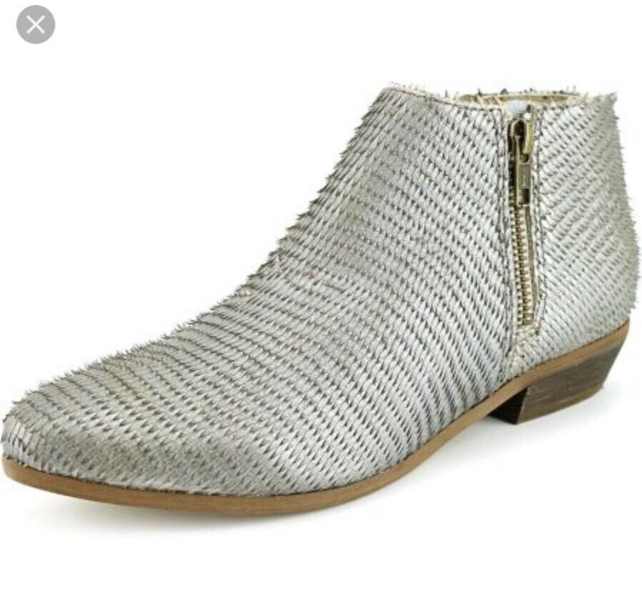 Matisse Pablo Leather Boots Bootie Snake Like NWOB 7 Silver Anthropologie