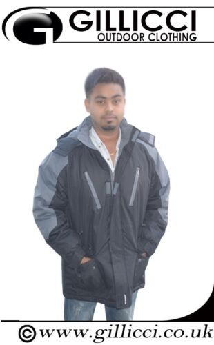 MENS 100/% WATERPROOF FLEECE LINED LONG THICK PADDED SKI WORK COAT JACKET S-6XL