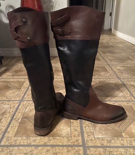 ECU Vince Camuto Tall Leather Equestrian Riding Bo