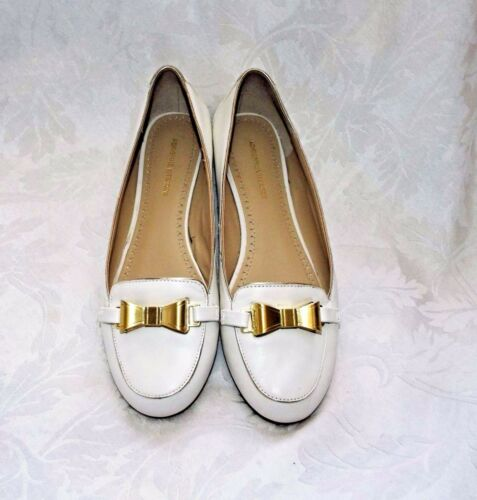 Gold Bow 9m Finish Flats Pebble Adrienne Vittadini White With Flats Solid a8wwYXZqv