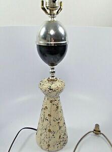 Vintage-Sputnik-Atomic-Mid-Century-Table-Lamp-Black-amp-White